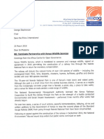 Terminate partnership with KWS_Save the rhino international.pdf