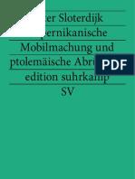 Sloterdijk Peter - Kopernikanische Mobilmachung Und Ptolemaische Abrustung (eBook-Deutsch-german