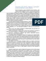 """Reseña de Sommerstein, Alan (1977) """"objetivos y principios"""" En  fonología moderna"""