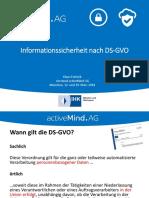 Activemind AG Informationssicherheit Nach DSGVO März 2018
