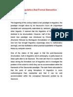 Structural Linguistics and Formal Semantics