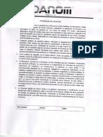 Certificado de Garantias Danom