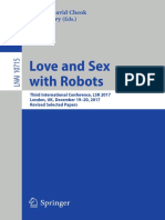 Adrian Cheok & David Levy Love and Sex With Robots 2017