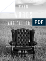 Avner Baz - When Words Are Called for 2012