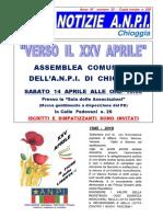 Notiziario ANPI Chioggia n.33 - 5 aprile 2018