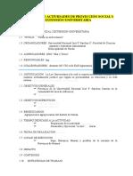 Modelo de Proyecto de Proyección Social