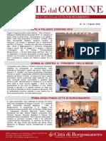 Notizie Dal Comune di Borgomanero del 5 Aprile 2018