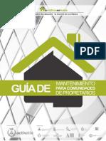 201804 Guía de Mantenimiento Para Comunidades de Propietarios