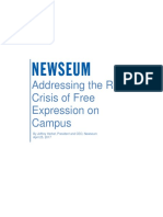 Addressing the Real Crisis of Free Expression on Campus