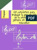 150 Canciones Para Trabajar La Prevención de La Violencia de Género en El Marco Educativo AYUNTAMIENTO de VALENCIA