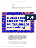 8 Ways College Student Views on Free Speech Are Evolving
