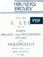 S.Lee  forty melodic and progressive etudes for violoncello