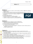 Série d'exercices de  N°2 - Physique - 1ère AS  (2010-2011) Mr Adam Bouali