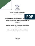 Del Castillo Identificación Del Estilo de Liderazgo