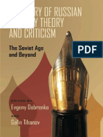 [Pitt Russian East European] Evgeny Dobrenko, Galin Tihanov - A History of Russian Literary Theory and Criticism_ the Soviet Age and Beyond (2011, University of Pittsburgh Press)