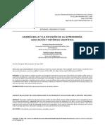 Andrés Bello y La Difusión de La Astronomía