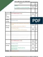 Edexcel June 2011 Gce Timetable