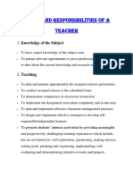 Responsibilities and Duties of a Teacher