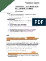 Trabajo Sobre Léxico a Partir Del Mapa de Diccionarios de La Rae