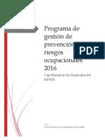 Programa de Gestion de Prevención de Riesgos Ocupacionales 2016