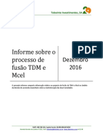 Informe Sobre Projecto de Fusao TDM e MCEL