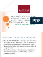 Intervención Educativa en Deficiencia Mental