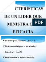 Caracteristicas de Un Lider Que Ministra Con Eficacia