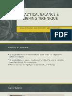 ANALYTICAL BALANCE Auxillary Balance (Top Pan Balance