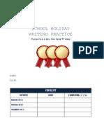 Shool Holiday English Practice y5 Unit 1