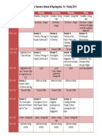 2014 Apologetics Schedule
