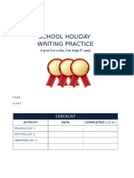 School Holiday English Practice y6 Unit 1