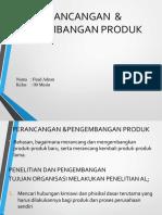 Tugas Perancangan Dan Pengembangan Produk