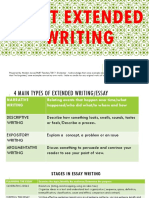 Basic Extended Writing SKills for L6 2017