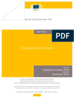 Eurobarometer 2016 Media Pluralism and Democracy