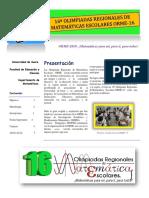 Boletín General ORME-16(2018) Unisucre - Olimpiadas de Matemáticas