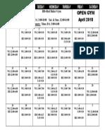 2018 April Open Gym