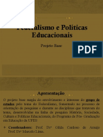 Federalismo e políticas Educacionais
