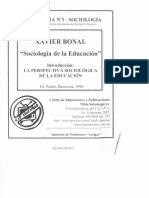 Bonal_La Perspectiva Sociológica de La Educación