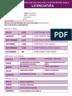 Calendario Fechas Licenciatura Mayo