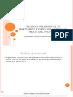 Graficas Estadisticas de Mortalidad y Servicios Medicos En hermosillo