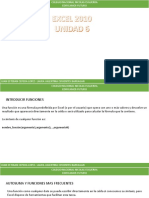 Unidad 6 Excel 2010