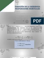 Distribución de La Diferencia de Proporciones Muéstrales-trabajo Rita