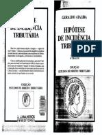 Hipótese de Incidência Tributária - Geraldo Ataliba - Parte 1