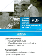 UNICEF Reducir Desnutricion Cronica y Anemia