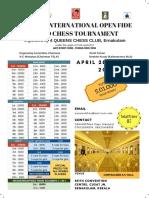 4 Queens International Open Fide Chess Tournament Brouchre