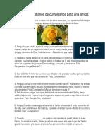 7 Mensajes Cristianos de Cumpleaños Para Una Amiga