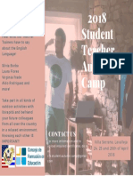 2018 Student Teacher Autumn Camp