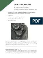 Apunte N° 8 Modos Auto - P - A o Av - S o Tv - Comp Expo - Horquillado - AE-L - A-DEP