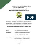 Tesis Dinamica de Un Bosque en La Composcion y Biomasa Aerea en el Bosque Reservado de la Universidad Nacional Agraria de la Selva Tingo Maria