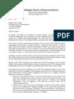 MSU Inquiry Letter to Speaker